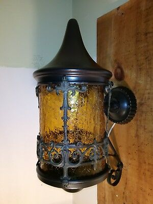 Antique Storybook Style 1920's period, porch light Solid brass and copper