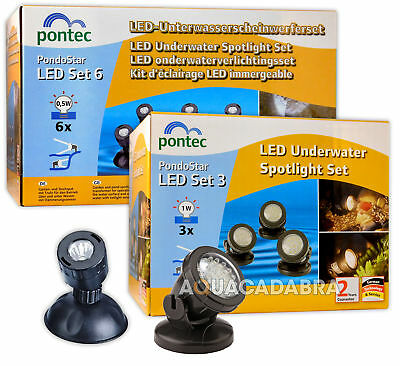Pontec Pondostar Led Sets 3 / 6 Pond Lighting Submersible Adjustable Garden Fish