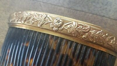 Beautiful Antique Gold Hair Comb, 4in.
