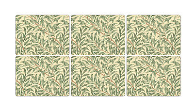 Pimpernel Willow Boughs Green Placemats Set of 6 Cork Backed Tablemat Tableware
