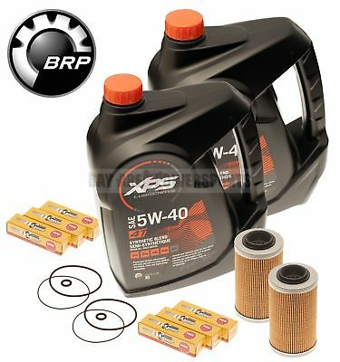 Sea Doo 4 Tec Oil Change Kit w/ Filter O Rings & Spark Plugs 2 Pack 215 255 260