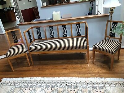Antique Biedermeier Sofa and 2 chairs Cherry wood South Germany circa 1825