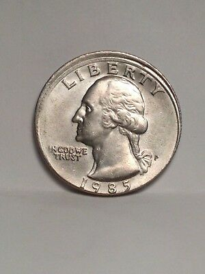 1985 Washinton Quarter Mis-Aligned  Die  Mint Error