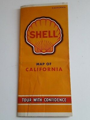 Vintage 1940 Shell Road Map of Caifornia
