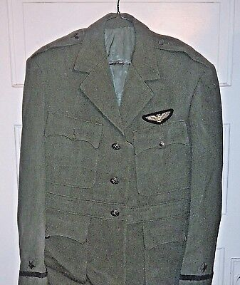 US WWII USN Navy Pilots Uniform Coat Jacket Named w/Bullion Wings & Orig Buttons