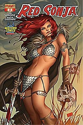 Red Sonja #1 Nei Ruffino Midtown Comics Exclusive Variant Cover Dynamite