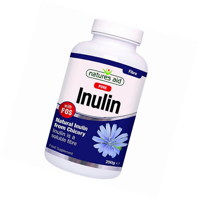 Natures Aid Inulin Powder, 250 g (from Chicory Root, 100% Natural with FOS, High