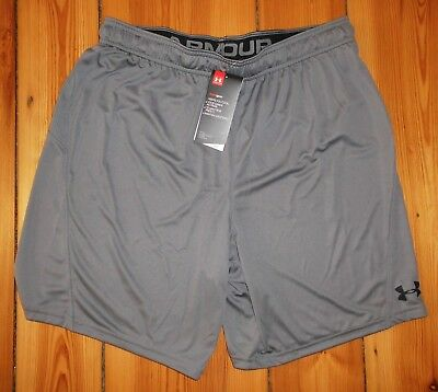 UNDER ARMOUR Challenger II Knit Short HOSE HEAT GEAR- Grau - L - NEU MIT ETIKETT