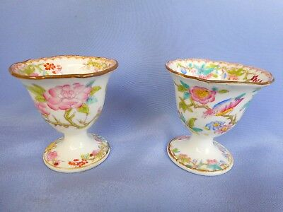 A Pair Of Early Mintons Egg Cups ~ Lovely Early China !