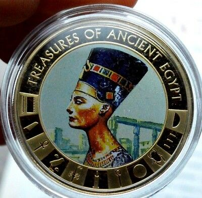 Queen Nefertiti 2013 Cook Islands Ancient Egypt Collection Gold Plated Proof $