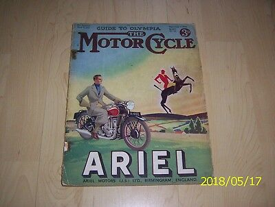 The Motor cycle magazine 1934 2nd special show number guide to Olympia No.1647