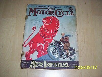 The Motor cycle magazine 1934 3rd special show number guide to Olympia No.1648