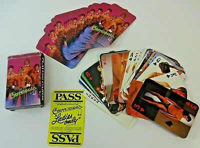 USED Vintage 1984 Chippendales PIN UP Playing Cards - Full Deck COMPLETE RARE