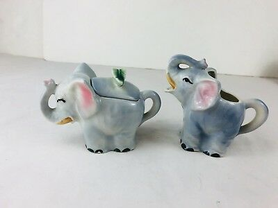 Elephants Sugar And Creamer