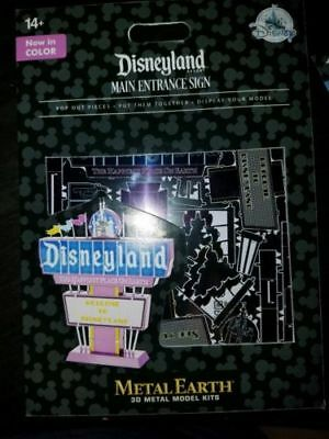 NEW Disney Parks Metal Earth 3D Model Kit Disneyland Main Entrance Sign