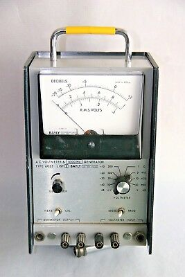 Bayly Model 6035 AC Voltmeter and signal generator.  120VAC power.