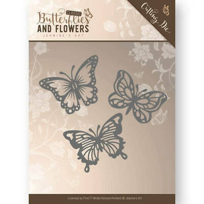 Stanzschablone - Jeanines Art - Butterflies and Flowers - Schmetterlinge
