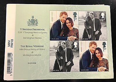 2018 Royal Wedding Meghan Markle Prince Harry Royal Mail Mini Sheet