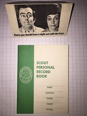 Scouts Canada. Scout Personal Record Book and looking for leaders card