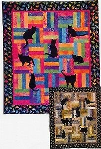 Lap Kitties Kitty Cat Applique Prairie Pieces Quilt Pattern Fun Fast