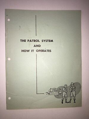 Scouts Canada. The Patrol System and gow it Operates. Booklet  1959