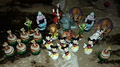 Disney hero and villians chess set spare pieces Figures  Hook Mickey Peter Pan