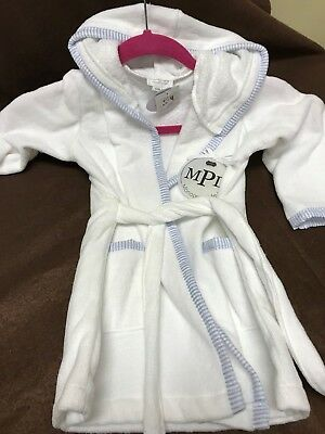 New With Tags Mud Pie Baby Hooded Bath Robe For A Boy