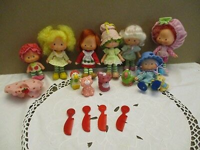 American Greetings Strawberry Shortcake Dolls Lot pets combs lot of 16 Vntg.1979