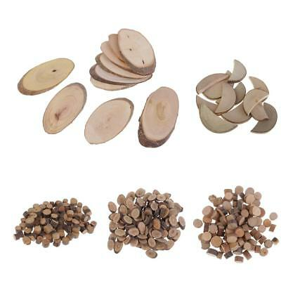 Various Shapes & Sizes Natural Wooden Disc Slices Rustic Wedding Crafts DIY