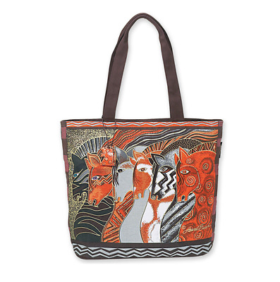 Artist Laurel Burch Moroccan Horse Tote Bag Purse