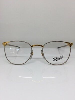 68730266e12 New Vintage Persol Ratti ALYA C. Brushed Silver With Gold Eyeglasses Italy  51mm