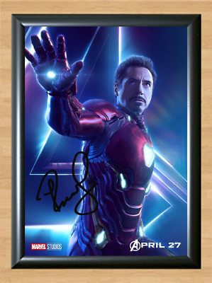 Iron Man Tony Stark Avengers Infinity War Signed Autographed A4 Poster Photo dvd