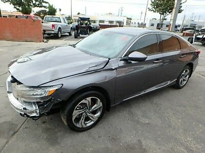 2018 Honda Accord EX-L CVT 2018 HONDA ACCORD EX-L CVT Salvage Repairable! Great Color! Amazing MPG!