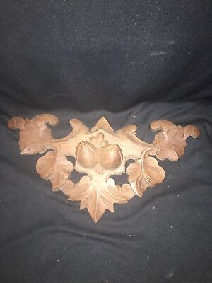 "1930's 17 1/2"" Carved Wood Pediment"