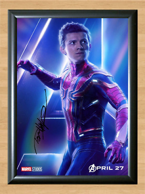 Spider Man Tom Holland Avengers Infinity Signed Autographed A4 Poster Photo dvd