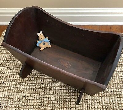 Antique Wood Baby Doll CRADLE