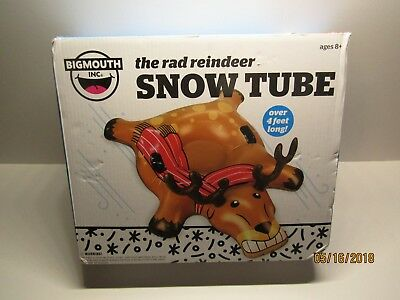 The Rad Reindeer Snow Tube By: BigMouth Inc. - Brown