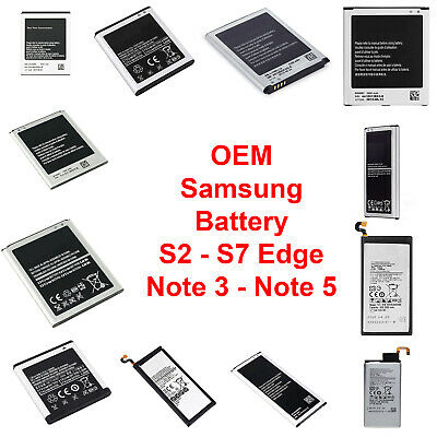 OEM Original Samsung Battery Replacement Galaxy Note 3 4 5 S2 S3 S4 S5 S6 S7 USA