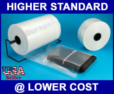 """10"""" 2 mil 2150' Poly Tubing to Make Various Sizes of Bags for Odd Shaped Product"""