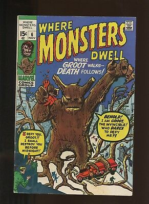 Where Monsters Dwell 6 FN 6.0 * 1 Book Lot * Reprints the 1st Groot! Kirby Ditko