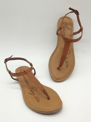 28fc3272e65f American Rag Akrista Women Shoes Ankle Strao Thong Sandals Cognac Sz 7 M