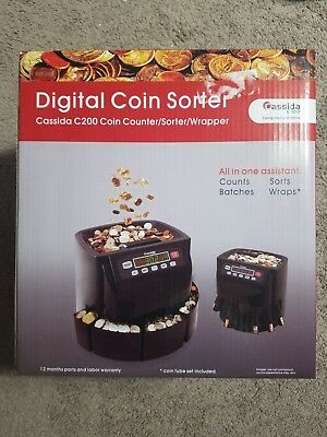 Used Cassida C200 Digital Coin Counter Sorter Wrapper
