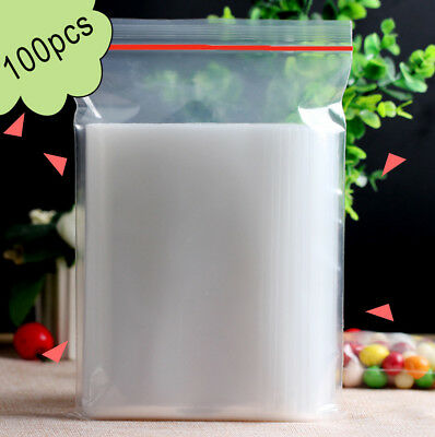 100 PCS Useful 4 x 6cm Plastic Clear Zip Zipper Ziplock Reclosable Storage Bags