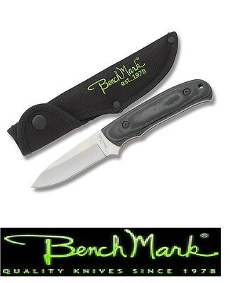 Benchmark Hunting Knife Fixed Blade Micarta Handle With Sheath free S&H in USA