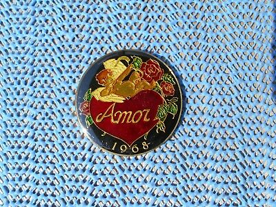 1984 Krewe of AMOR Multi-Color cloisonne/bronze Mardi Gras doubloon