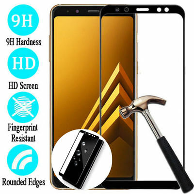 3D Full Cover Tempered Glass Screen Protector For Samsung Galaxy A6 A8 Plus 2018