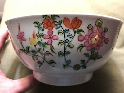Antique Late 18th/Early 19 C English Porcelain New Hall Waste Slop Bowl