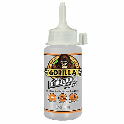 Gorilla Glue 4537503 Crystal Clear Glue with Non-Foaming Formula, 3.75 Oz