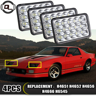 "Fit 1982-1992 Chevy Camaro IROC-Z28 4""x6"" LED Headlights DRL Conversion Sealed"