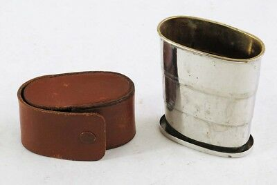 Antique German Silver Plated Collapsible Drinking Cup